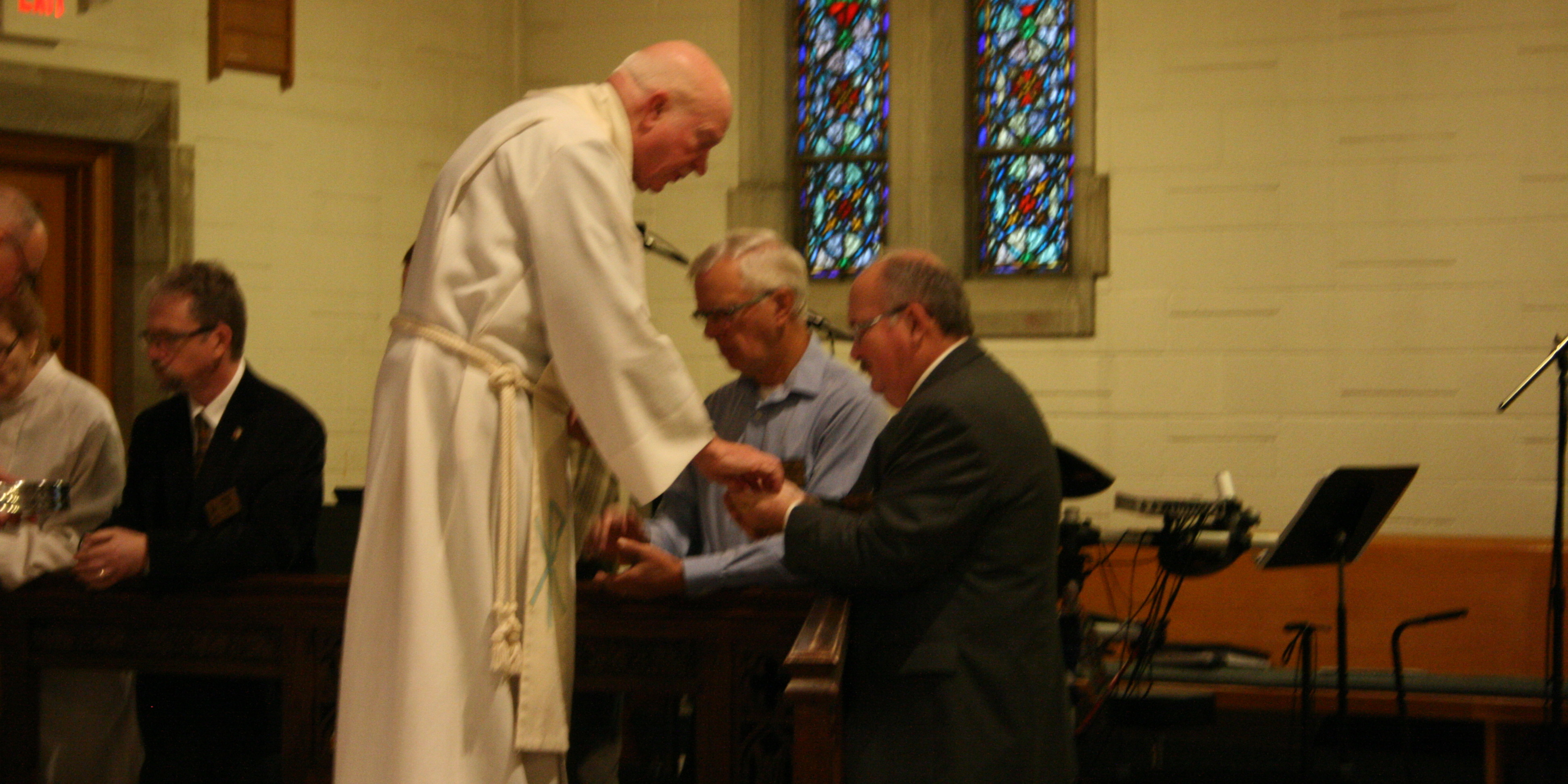 Communion at the Rail during Traditional Services